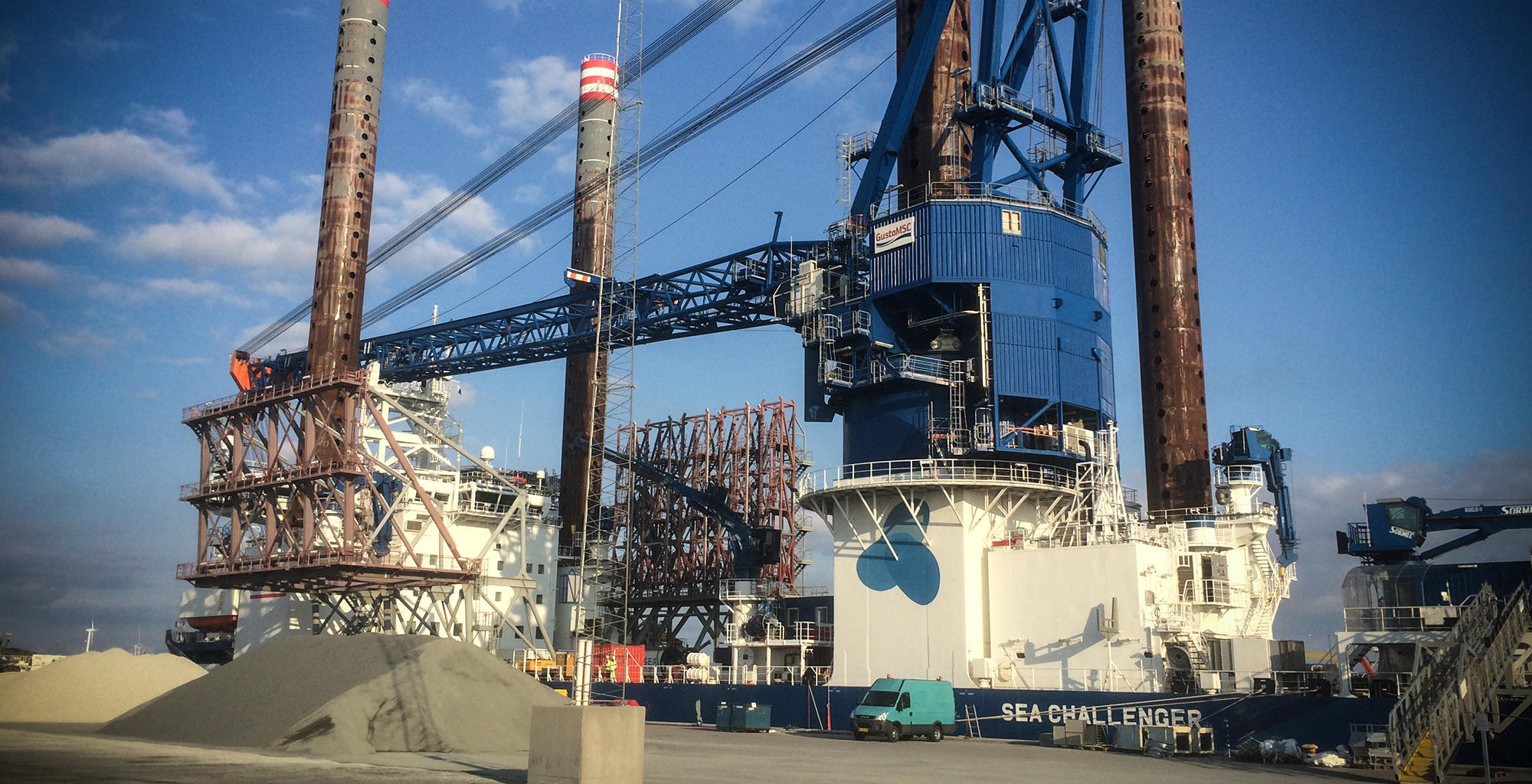 A2SEA - SEA CHALLANGER jack-up vessel for the wind industry